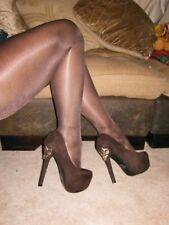 Scarpe da donna stiletto marrone in camoscio
