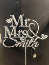 Personalised Crystal Wedding Cake Topper
