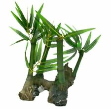 Pen Plax REPB1 Bamboo Roots with Silk Plants