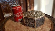 Chinese export silver box gilt, Win Chun, 367 gram, dragon,19th century