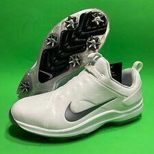Nike Tour Premiere Pga Golf Shoes White Metallic Grey Koepka Ao2241-101 Sz 10.5
