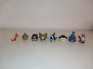 Pokemon Finger Puppets 8x Bandai Nintendo Toys Shapedo Seedot Latias Herecross