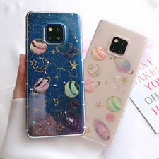 For Huawei Mate 20 Lite P30 20 Pro P Smart Cosmos Pattern Soft Clear Case Cover