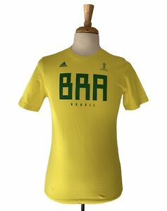 Adidas Youth X-Large Brazil Fifa world cup Russia 2018 Tee authentic Official