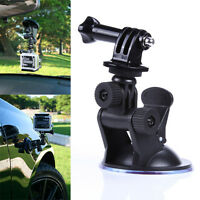 """Car Suction Cup + 1/4"""" Tripod Mount Adapter + Screw for GoPro HD Hero 4 3+ 3 2"""