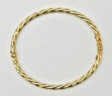 """10K Gold Twisted Bangle Bracelet """"417"""" made in Italy Birthday, Christmas, Anniv"""