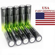 10*3.7V Battery Li-ion 18650 Rechargeable Battery For Flashlight From USA LION