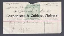 1902 NY SCHWARTZ Co. CARPENTERS CABINET MAKERS STATIONARY SALES RECEIPT BILL US
