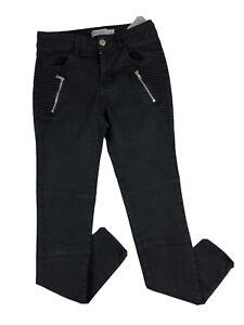 Zara Basic Black Denim Skinny Jeans Sz EUR 34 UK 6-8 Ladies Zip Pockets Smart