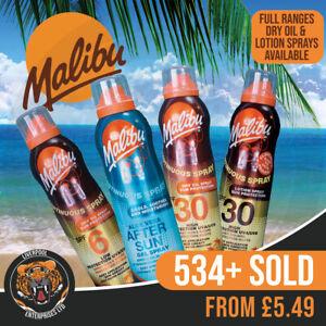 Malibu Continuous Dry Oil Sprays 175ml, Malibu Continuous Lotion Oil Spray 175ml
