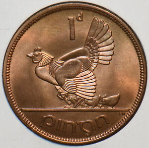 Ireland 1964 Penny Hen with Chicks animal 195024 combine shipping