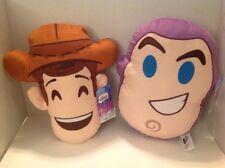 DISNEY Emoji Pillow BUZZ & WOODY SET  TOY STORY - BED - NAP  TRAVEL PILLOWS  NEW
