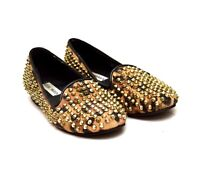 Steve Madden Flats Loafers Slip On Shoes Womens Sz 6M Tan Brown Studded Leather