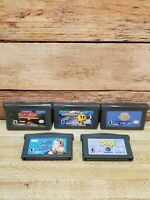 Lot of 5 Nintendo GameBoy Advance GBA Video Game Bundle - Tested Good Condition.