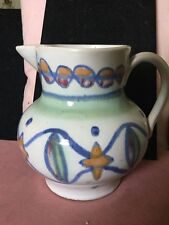 Vintage Buchan Portobello Scotland Ceramic Jug, Colourful Abstract Decoration