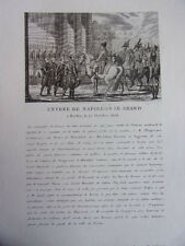 ENTREE DE NAPOLEON LE GRAND A BERLIN 27 octobre 1806