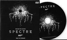 JAMES BOND 007 SPECTRE DANIEL CRAIG DVD (BEHIND THE SCENES OF SPECTRE) NEW