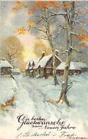 BG8717  winter landscape   neujahr new year greetings germany