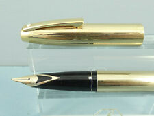 Vintage Sheaffer Triumph Imperial 727 Gold Plated Fountain Pen,14K Nib *Ex Cond*