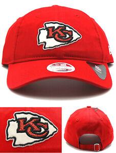 Kansas City Chiefs New Era 9Twenty NFL Ladies Women Glisten Glitter Red Hat Cap