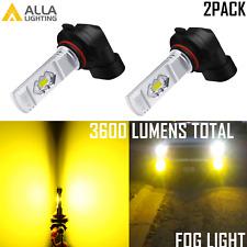 Alla Lighting 9006 LED Driving Fog Light Bulb,Super Bright 3000K Bright Yellow