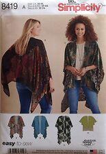 Simplicity 8419   Misses Kimono Style Wrap   Sizes XS (6-8) - XL 22-24  NEW!