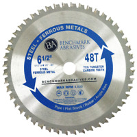 """6-1/2"""" 48 Tooth TCT Saw Blade for Steel/Metal"""