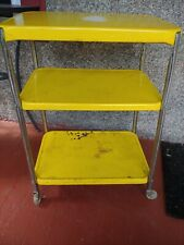 Mid-Century Cosco 3 Tier Kitchen Trolley Cart Rolling Bar Stand Vintage