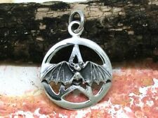 Pentagramm Fledermaus 925 Silber Anhänger Gothic Vampire bat