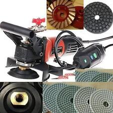 Wet Polisher Concrete Granite 35 Polishing Pad 3 Grinding Cup 2 Buffer Marble