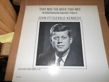 John Fitzgerald Kennedy  That Was the Week That Was   BBC's Tribute to  Album