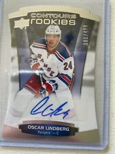 2015-16 OSCAR LINDBERGH UD CONTOURS ROOKIES AUTO 301/499 NEW YORK RANGERS RC
