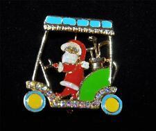 Macy'S Holiday Lane Santa Driving Golf Cart Pin Brooch New In Box $20
