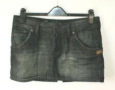 "G Star Raw Jack Denim Skirt Mini Black Faded Grunge 90s Size 30 Waist 17"" across"