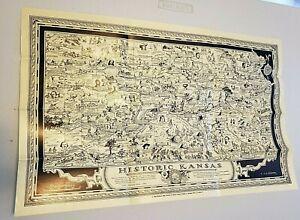 """1941 Kansas Map """"Statewide Fiesta"""", 1541-1941."""