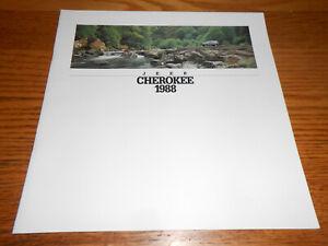 1988 JEEP CHEROKEE BIG ORIGINAL 24 Page BROCHURE / 88 CATALOG