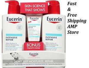 Eucerin Intensive Repair Body Lotion (21 fl. oz., 2 pk.) + Advanced Repair Hand