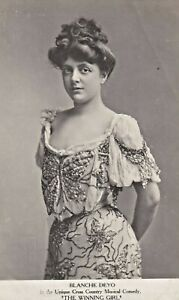 """BLANCHE DEYO """"the winning girl"""" a UNIQUE COUNTRY MUSICAL COMEDY 1900s postcard"""