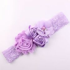 Cute Kids Baby Girl Toddler Lace Flower Headband Hair Band Headwear Accessories