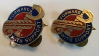 Vintage US Military 194th DUI Insignia Pin Set Forward With Support G23 USA