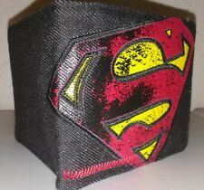 MEN'S DC COMICS SUPERMAN WALLET! BRAND NEW! DENIM DESIGN! SUPER HARD TO FIND!