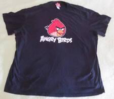 Big Red ANGRY BIRDS Cotton SHIRT Adult Sz XXL Soft 2X Stretchy Sleepwear
