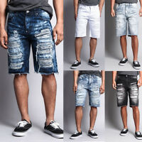 Men's Distressed Rip Colored Jean Pant Denim Shorts (441-V1G ,431-T21D ,751-V)
