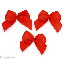 LOVE Red Ribbon Bow Wedding Party DIY Scrapbooking Embellishment 25x20mm 1000x
