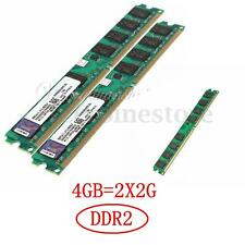 New 4GB 2X2GB DDR2-800MHz PC2-6400 pc6400 Memory RAM For Desktop 240PIN (DIMM)