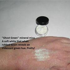 """Ghost Green"" Mineral Mica Powder Eye Shadow ~ Iridescent green hue ~Vegan"