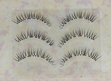 9Pairs 3D False Eyelash Soft Natural Transparent Stem Black Eye end elongated