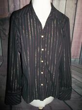 """GEORGE"" DESIGNER Ladies Long Sleeve Button Down Blouse XL(16-18) Pinstripe"