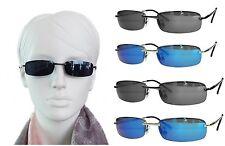 Dunkle schmale stilvolle Sonnenbrille Polycarbonat Gläser 2 Größen in 4 Farben