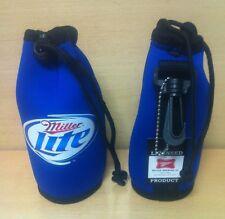 Miller Lite Bottle Cooler Koozie Bag Set of Two (2) Koozies - NEW Belt Loop Clip